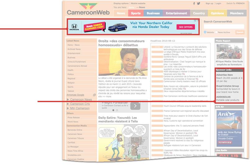 Advertise On Cameroonweb
