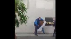 Scène des échauffourées entre la police suisse et ces Camerounais