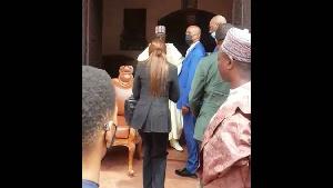 Il a rendu visité au sultan des Bamoun