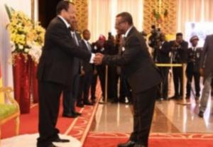 Dion Ngute et Paul Biya