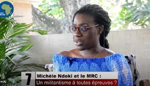 Michelle Ndoki, militante du MRC