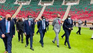 La délégation de la CAF inspecte le stade d'Olembe