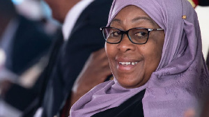 La présidente de la Tanzanie