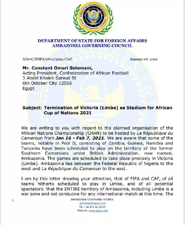 Lettre des Amba à la CAF