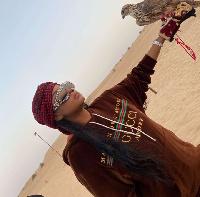 Brenda Biya lors des vacances au Qatar