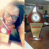 La jeune entrepreneure a reçu un prix pour son travail pour l'égalité des sexes