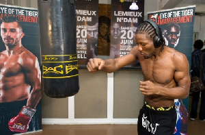 Le boxeur camerounais Hassan Ndam Njikam