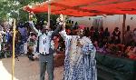 Maurice Kamto et Mamadou Mota lors du meeting tenu à Tokombéré le week-end dernier