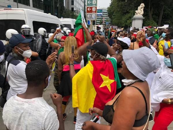 Manifestation de la BAS à Bruxelles