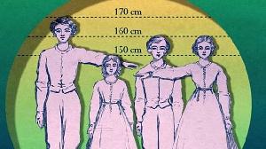 Les  tailles des hommes et des femmes de ce pays ont régressé un peu