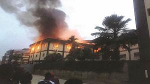 Incendie d'un bâtiment public