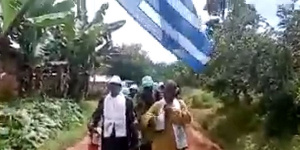 Défilé des populations à Bakassi