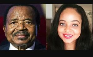 Brenda et son père président Paul Biya