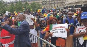 Vue des manifestants à Paris