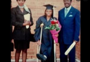 Nadia Fotso et ses parents