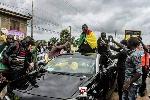 Une foule nombreuse s'était déplacée dans les rues de Yaoundé