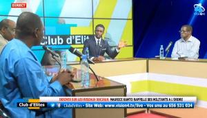 Dieudonné Essomba sur le plateau de Vision4