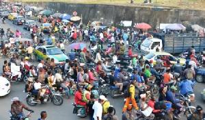 Desordre Urbain Moto Taximen Douala