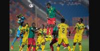 Des joueurs de la sélection nationale du Cameroun lors d'un match