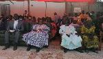 Les leaders du MRC lors du meeting à Tokombere