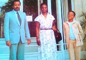 Franck Biya aux côtés de Irène et Paul Biya