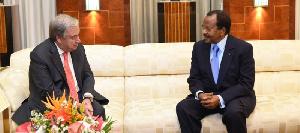 Antoine Guterres et Paul Biya à Etoudi