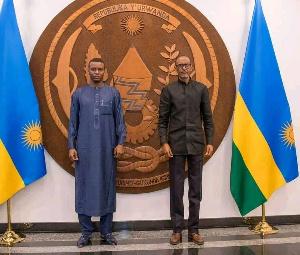 Adoum Deby et le président Paul Kagame