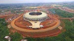 Le stade d'POlembe en travaux