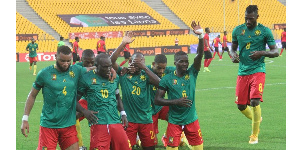 Les Lions célébrant un but