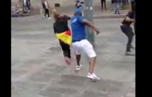 Des pro Kamto en train de brutaliser la jeune dame