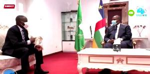 Amougou Belinga et le président de la RCA