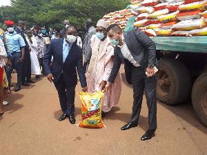 Malachie Manaouda receptionne les riz ORCA