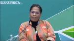 La suissesse Nathalie Yamb d'origine camerounaise à Sotchi en Russie