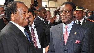 Biya et Obiang Nguema