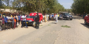Une foule dans un quartier de Maroua