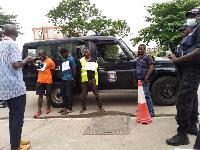 Les bandits arrêtés par la police