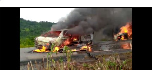 Explosions des voitures dans l'accident de Limbé