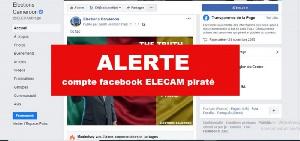 Deux suspects du piratage du compte Facebook d'Elecam aux arrêts