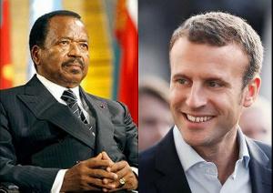 Emmanuel Macron et Paul Biya