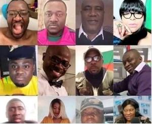 La liste partielle des visages publiés par l