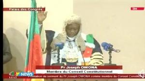 Prof Joseph Owona, nouveau membre de la cour Consitutionnelle