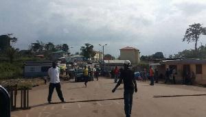 Vue de la frontière netre le Cameroun et la Guinée Equatoriale