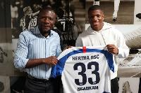 Le jeune attaquant camerounais de 19 ans a signé son premier contrat professionnel au Hertha Berlin