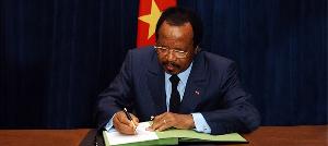 Le Chef de l'Etat du Cameroun lui adresse ses félicitations