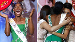 Miss Nigeria, Nyekachi Douglas in her wild jubilation mode