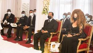 Paul Biya aux obsèques de sa soeur