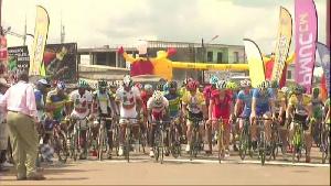 Une étape du Tour Chantal Biya