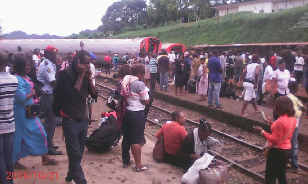 Train accident in Eseka