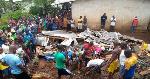 Les victimes s'étaient mises à l'abris de la pluie sur le toit de la bâtisse