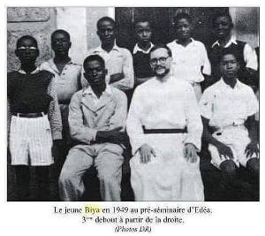 Paul Biya au séminaire en 1949